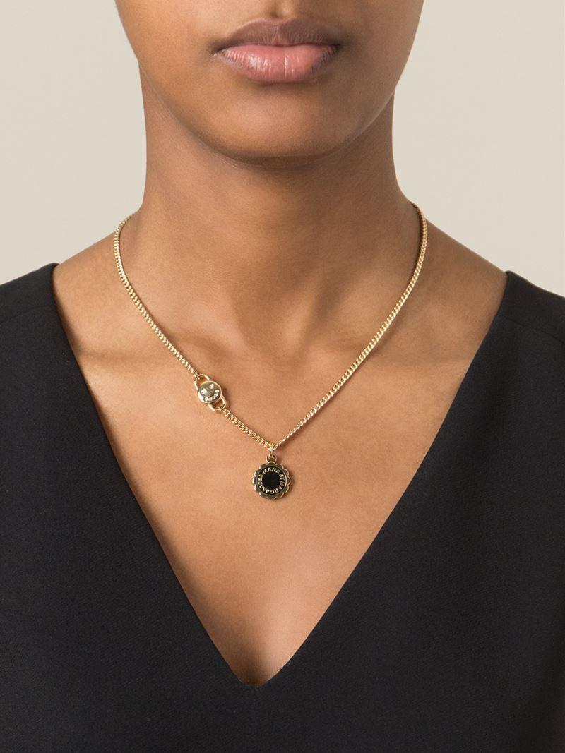 disc-pendant necklace - Metallic Marc Jacobs ONIPaeEjou