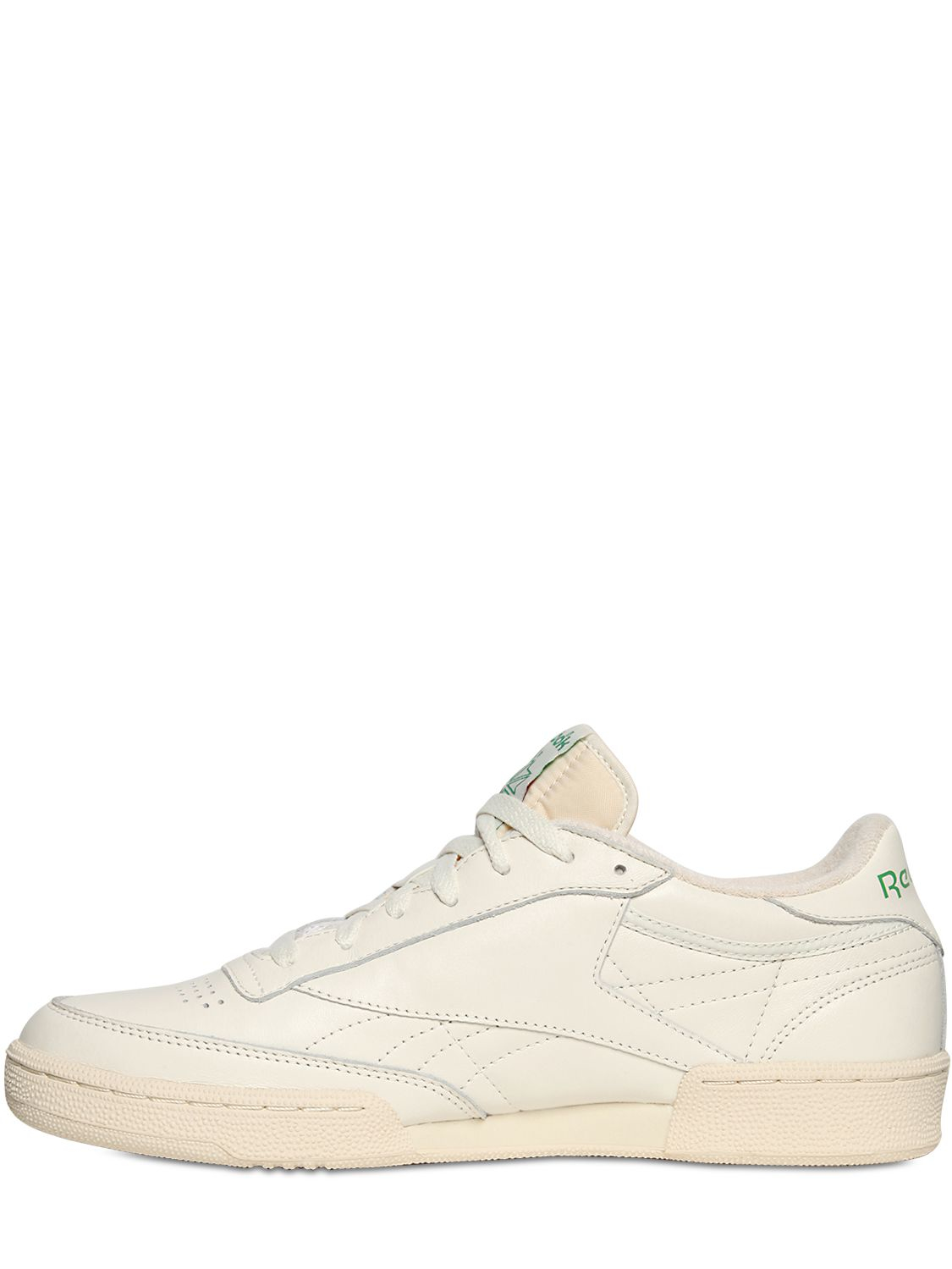 Lyst - Reebok Club C 85 Vintage Leather Low-Top Sneakers in White ... d0c8f1f00