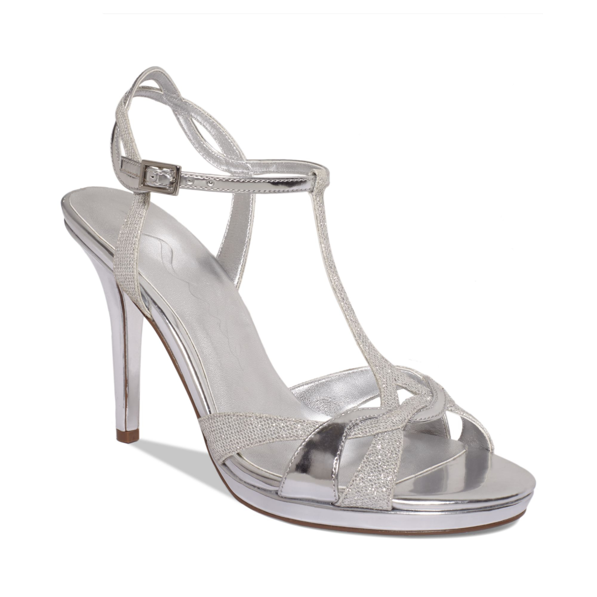 Nina Reilly Evening Sandals A Macys Exclusive In Silver Lyst