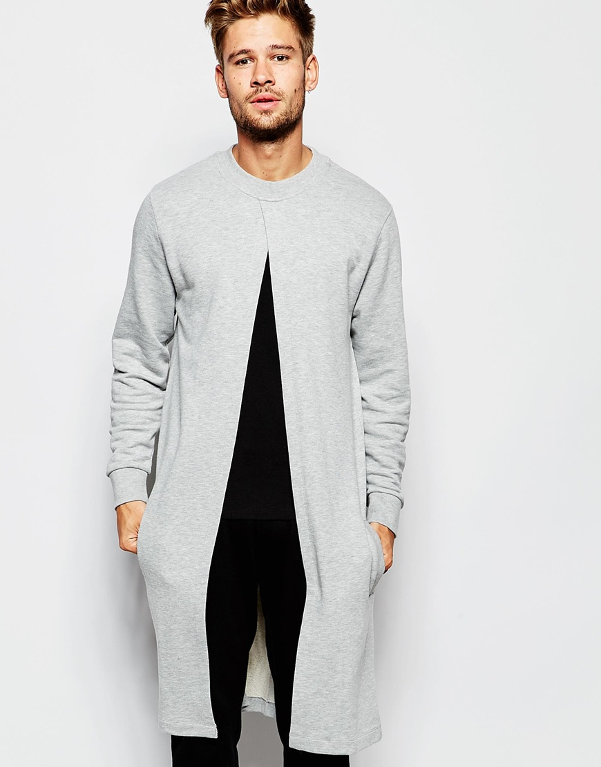 Asos Loungewear Extreme Longline Sweatshirt With Split Front in ...