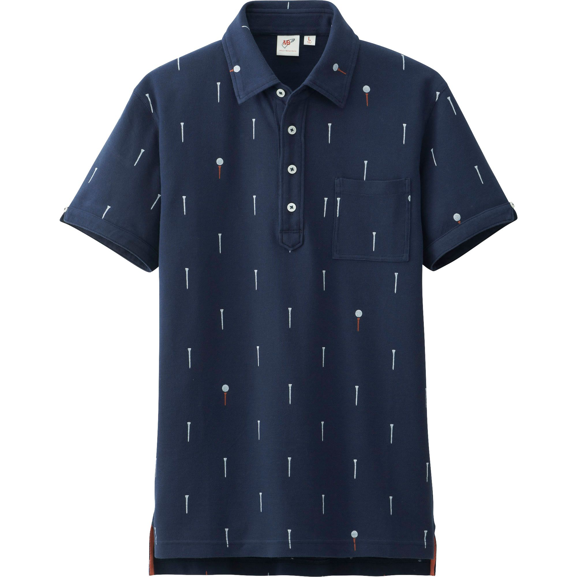 Uniqlo Men Washed Short Sleeve Polo Shirt By Mb In Blue