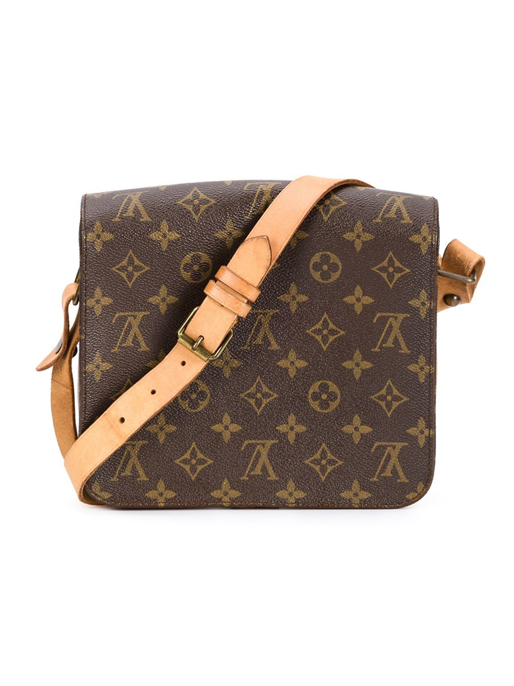 a4d29fb700fd Lyst - Louis Vuitton Signature Crossbody Bag in Brown