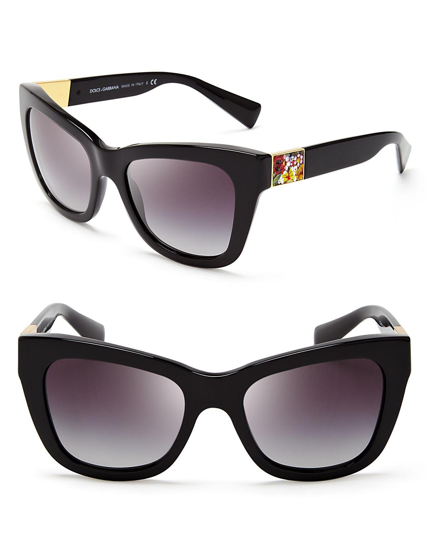e24afa8b9238 Dolce & Gabbana Dolce&Gabbana Square Mosaic Sunglasses in Black - Lyst