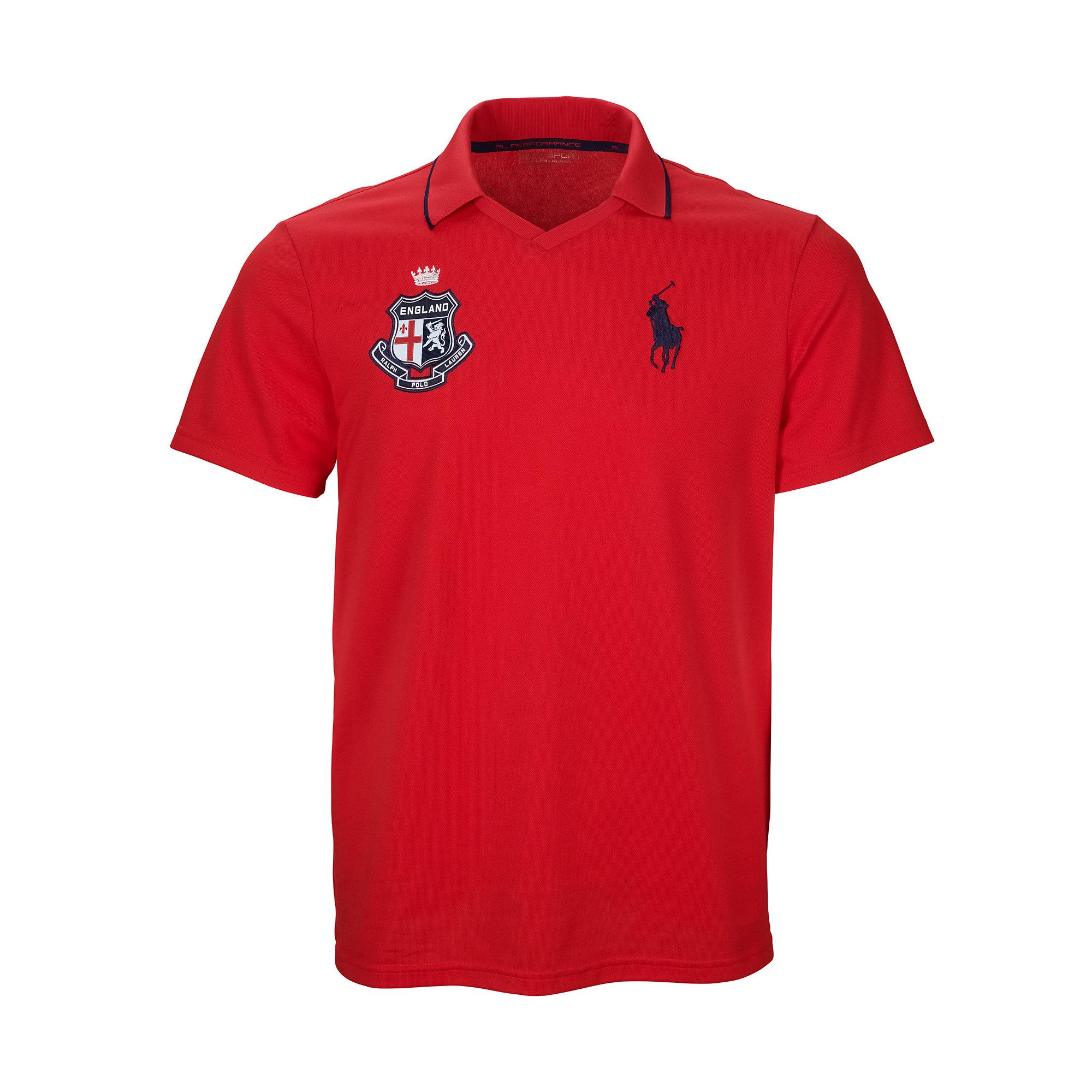 Lyst ralph lauren england polo shirt in red for men for Ralph lauren polo shirts uk