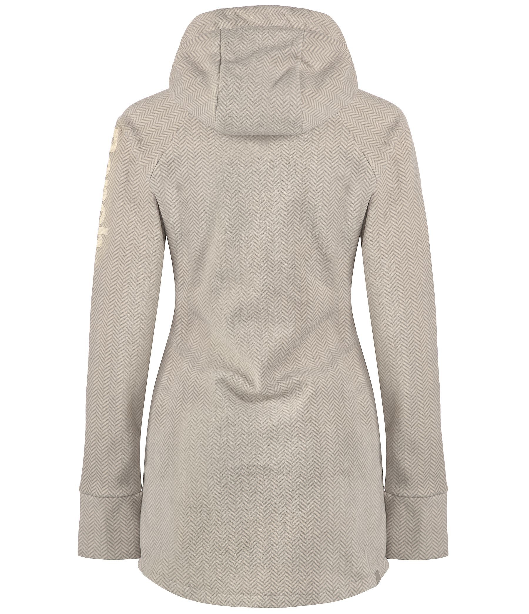 Bench Slinkerton Long Zip Thru Hoodie In Gray Grey Lyst