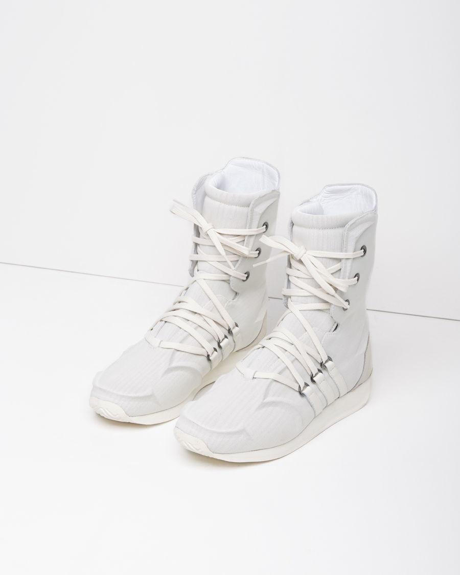 yohji yamamoto mesh boxing boots in white lyst