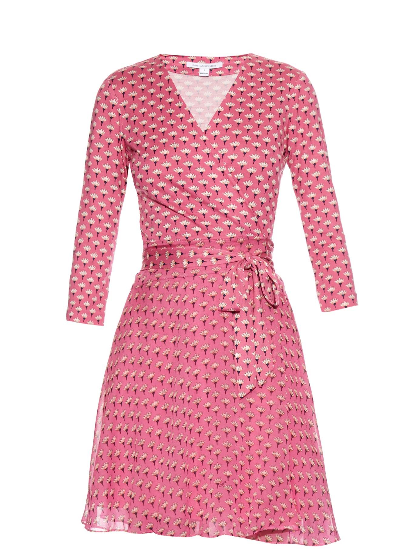 Diane von furstenberg Irina Dress in Pink - Lyst