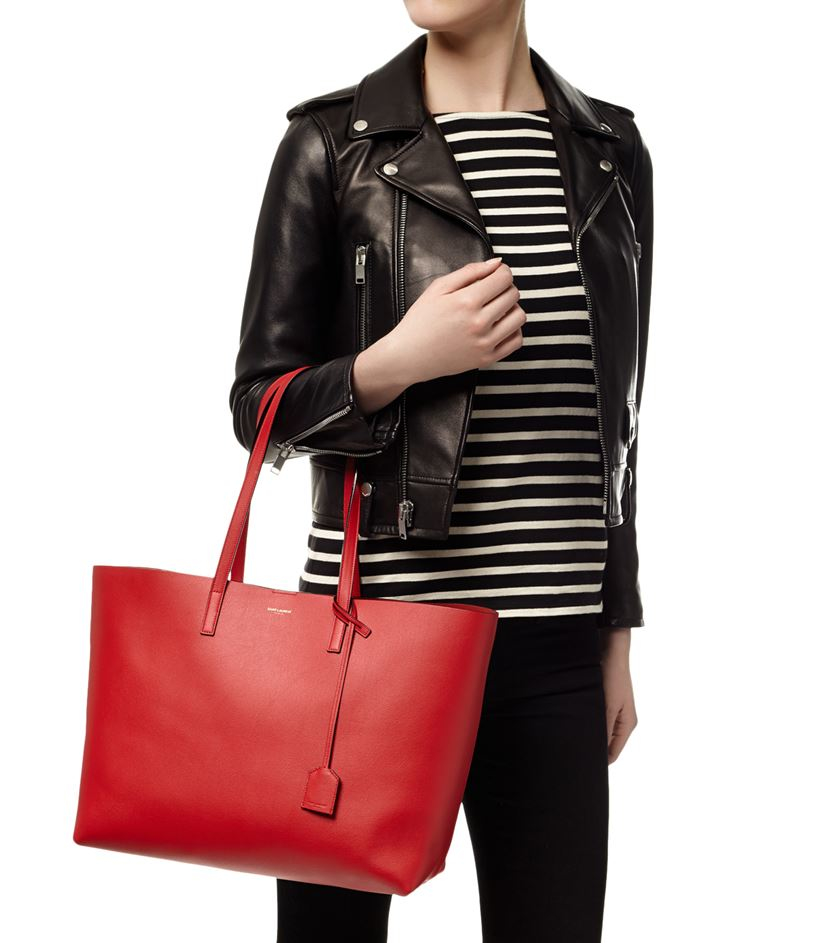 yves saint laurent bags - Saint laurent Large Shopping Bag in Red | Lyst