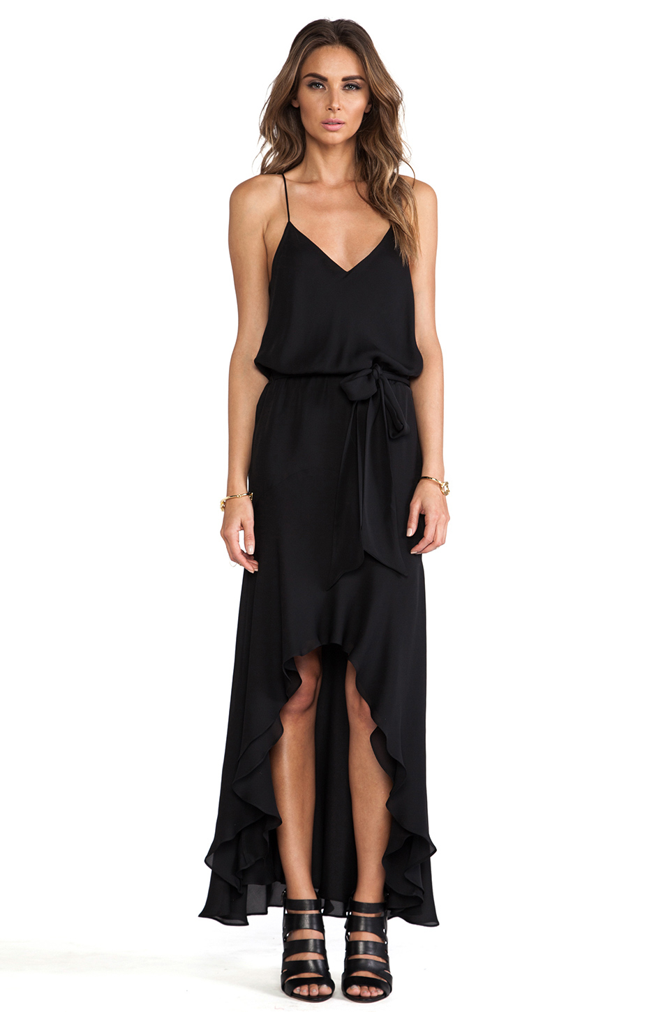 Haute hippie high low dress in black lyst for To have and to haute dress