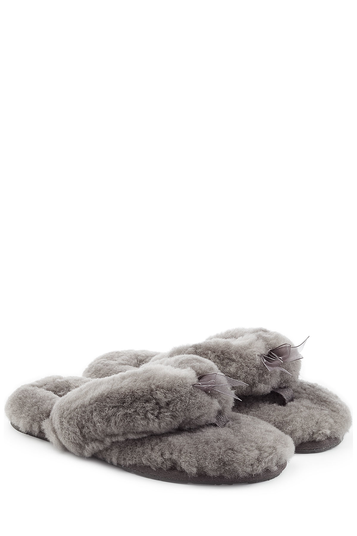 grey ugg flip flop slippers