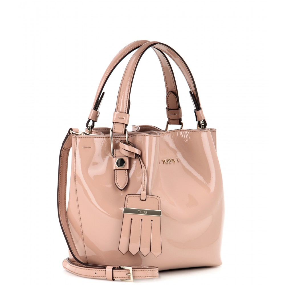 Lyst - Tod s Flower Micro Patent Leather Bag in Pink 405d11a0c110d
