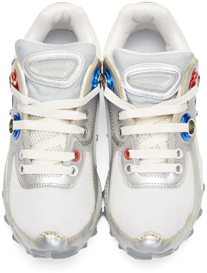 571e8257b548 Lyst - Raf Simons Silver Adidas X Response Trail Robot Sneakers in ...