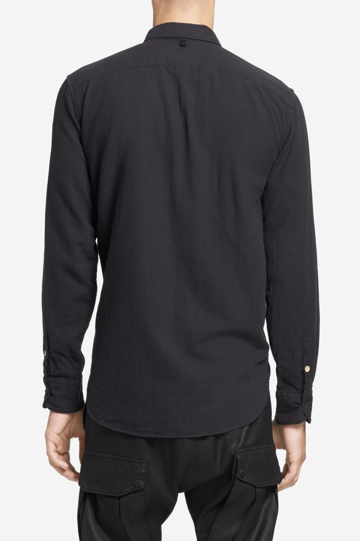 Lyst Rag Amp Bone Beach Shirt In Black For Men