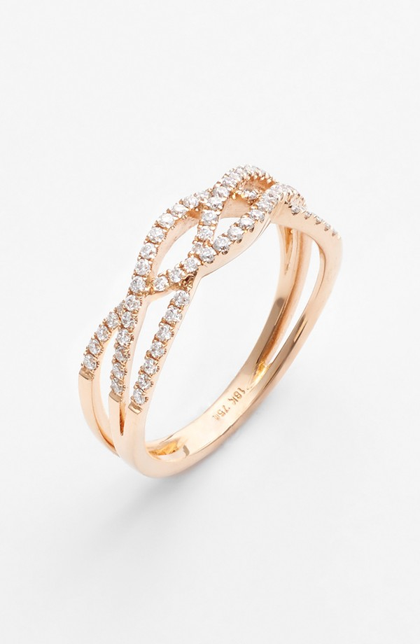 levy jewelry bony levy braided ring in gold gold lyst 3352