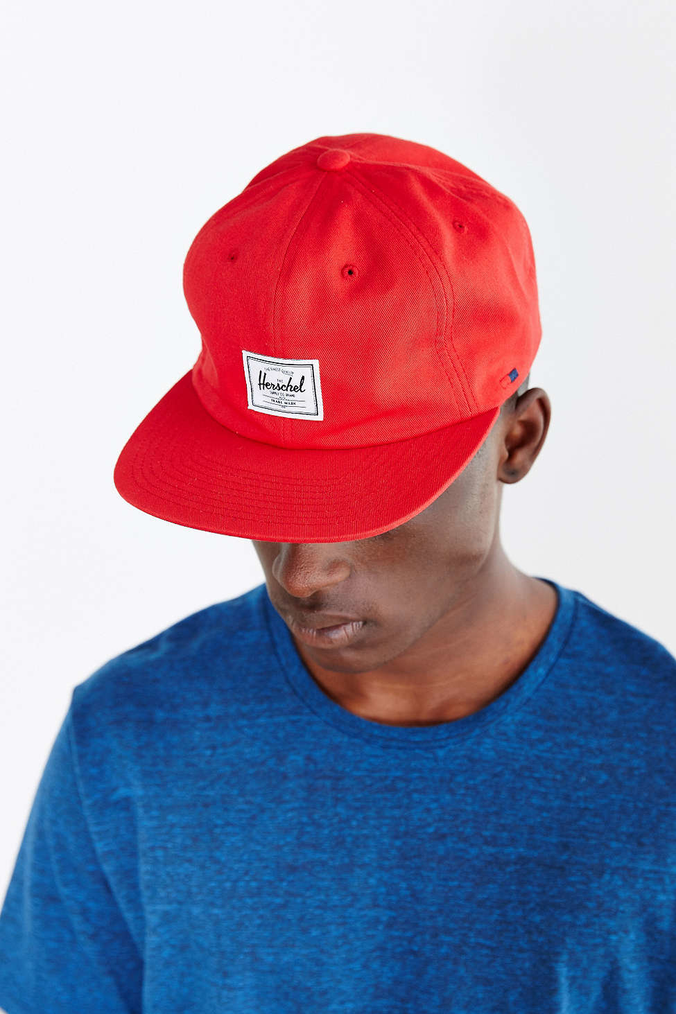 b6e520035dc ... coupon lyst herschel supply co. albert strapback hat in red for men  65ab3 11510