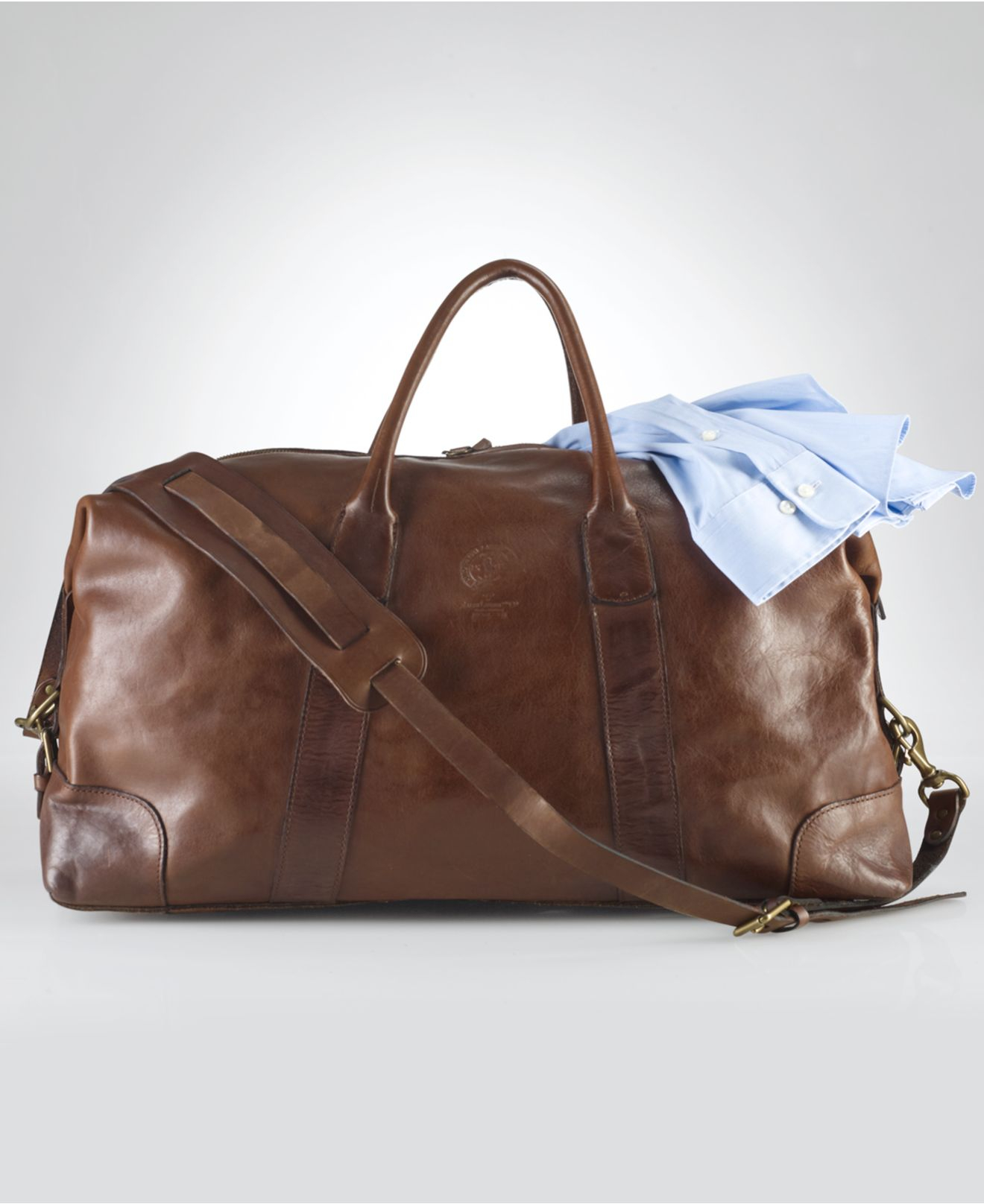 17500c9a7120 Polo Ralph Lauren Core Leather Duffle Bag in Brown for Men - Lyst