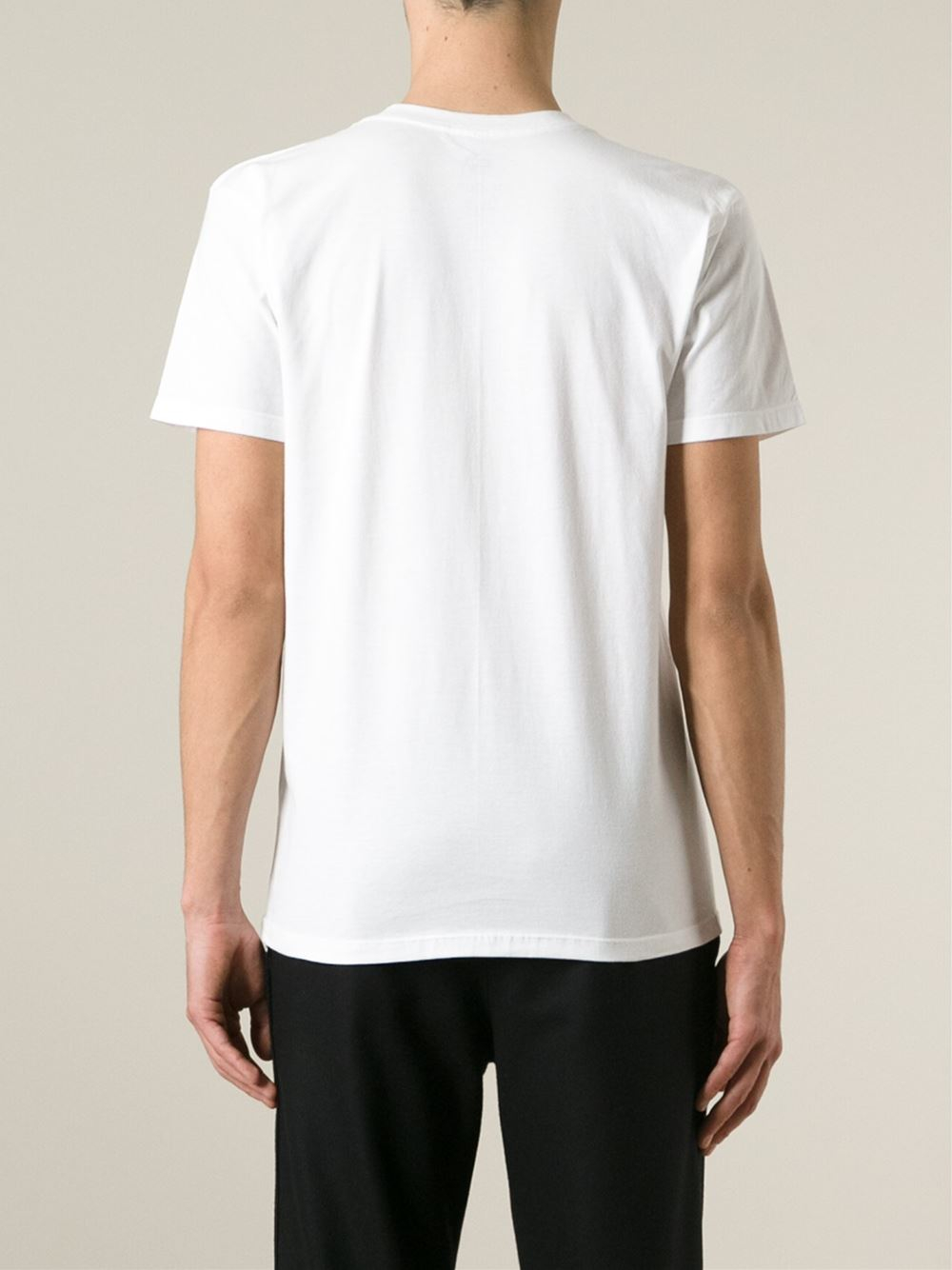 lyst obey handcuffs t shirt in white for men. Black Bedroom Furniture Sets. Home Design Ideas