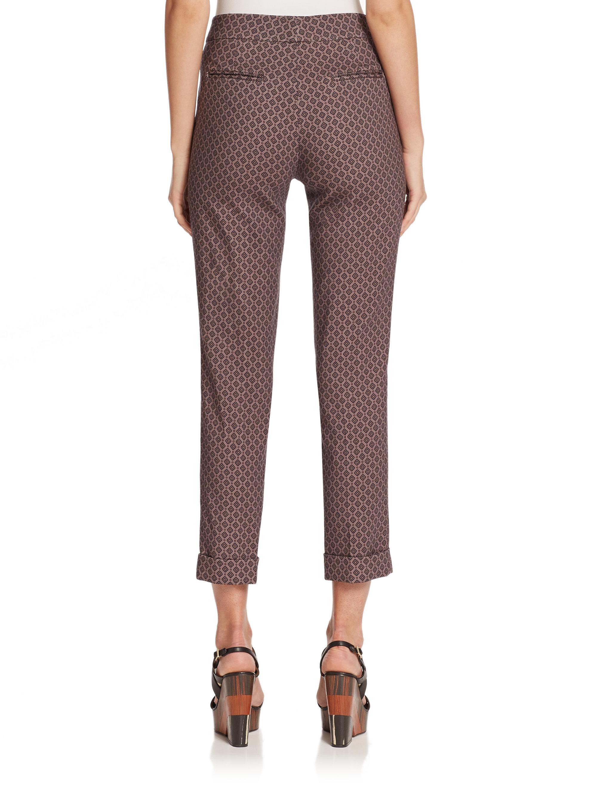 Cropped stretch-wool trousers Etro sHGFspK