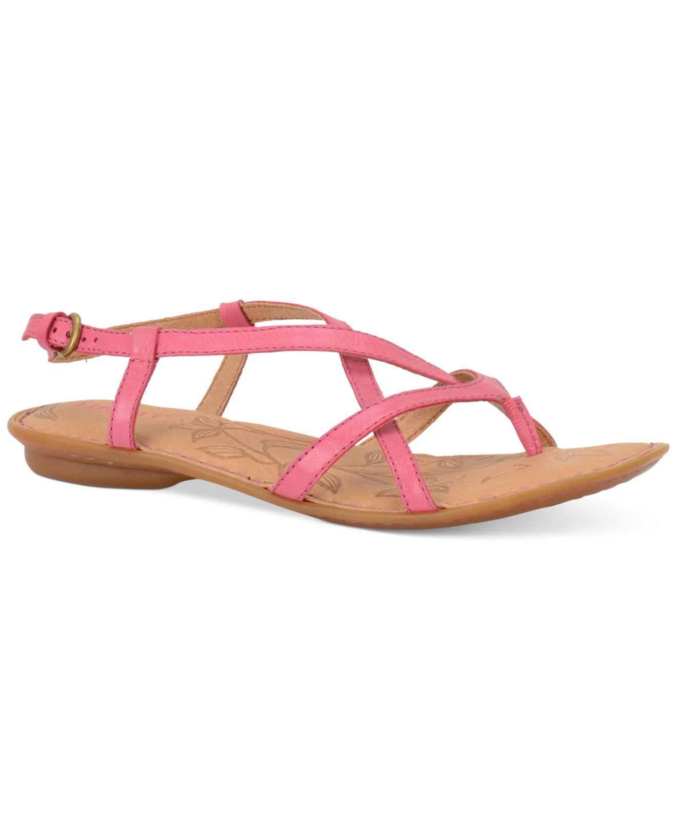 642faeb40d2e Lyst - Born Mai Flat Sandals in Pink