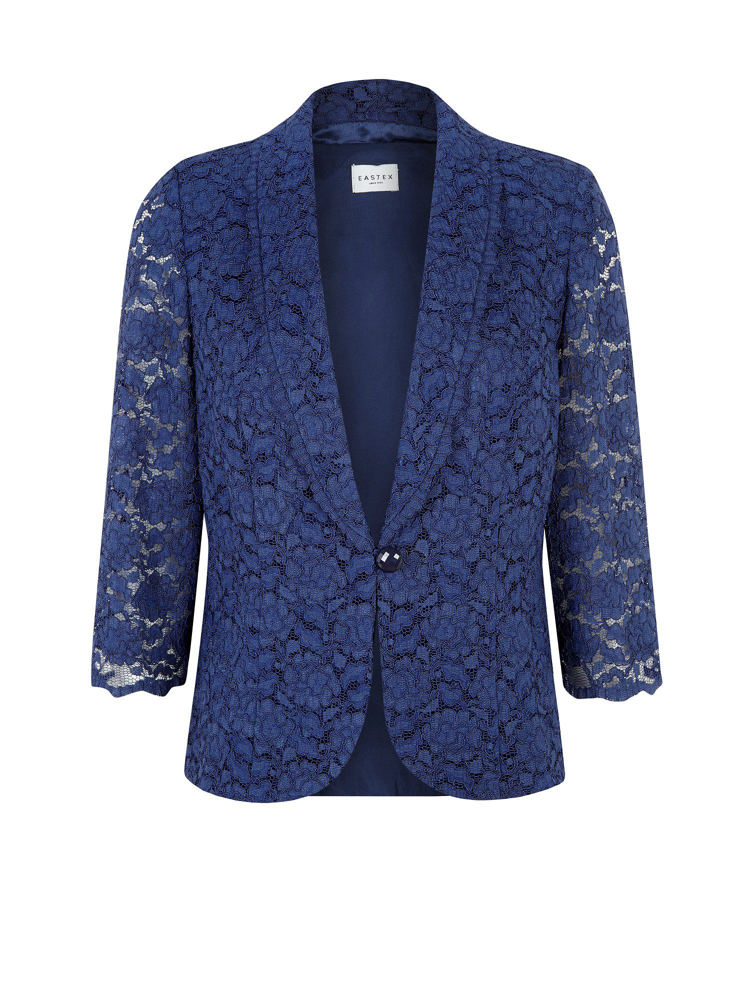 Eastex Navy Lace Tailored Jacket in Blue