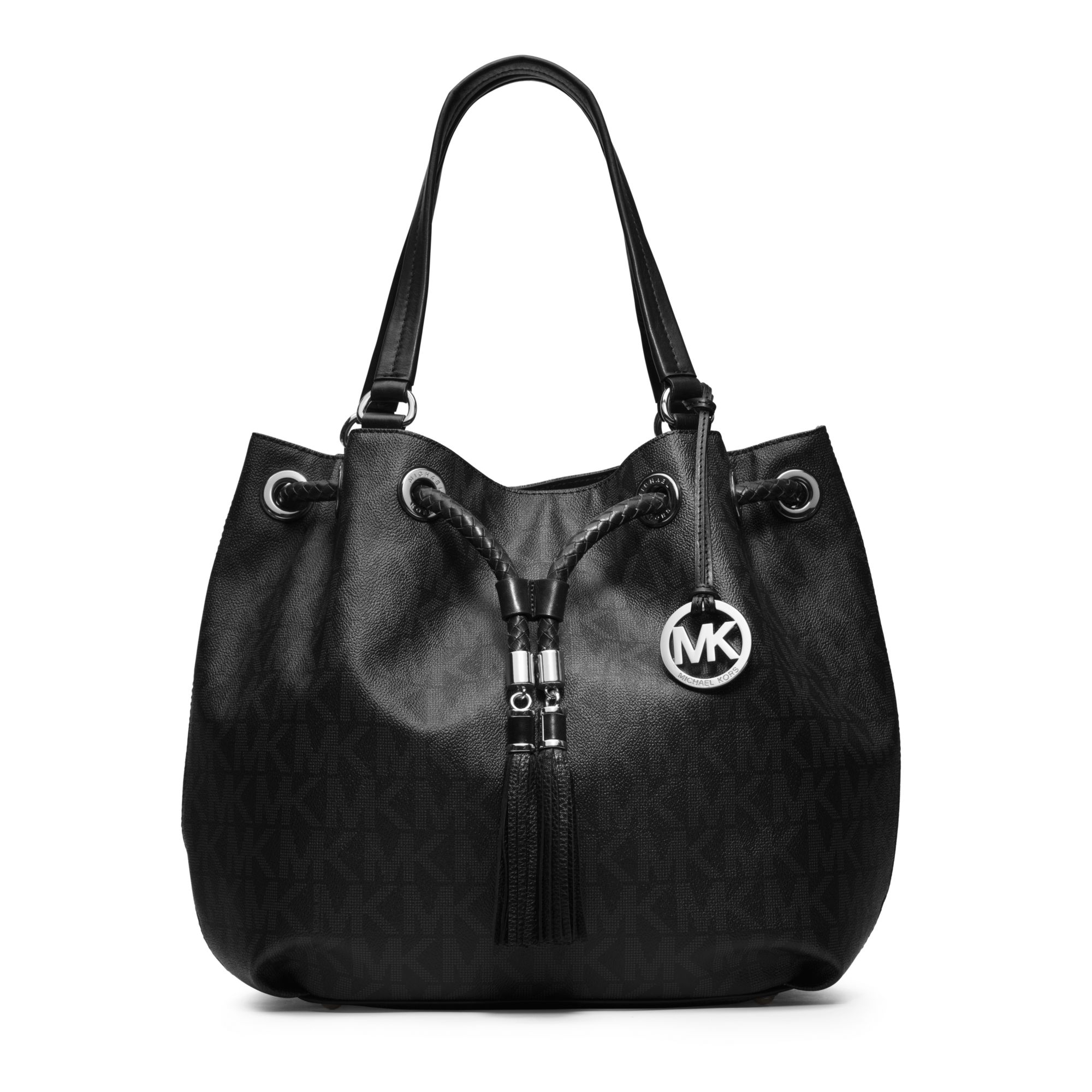 black and gray michael kors bag ya6d  Gallery
