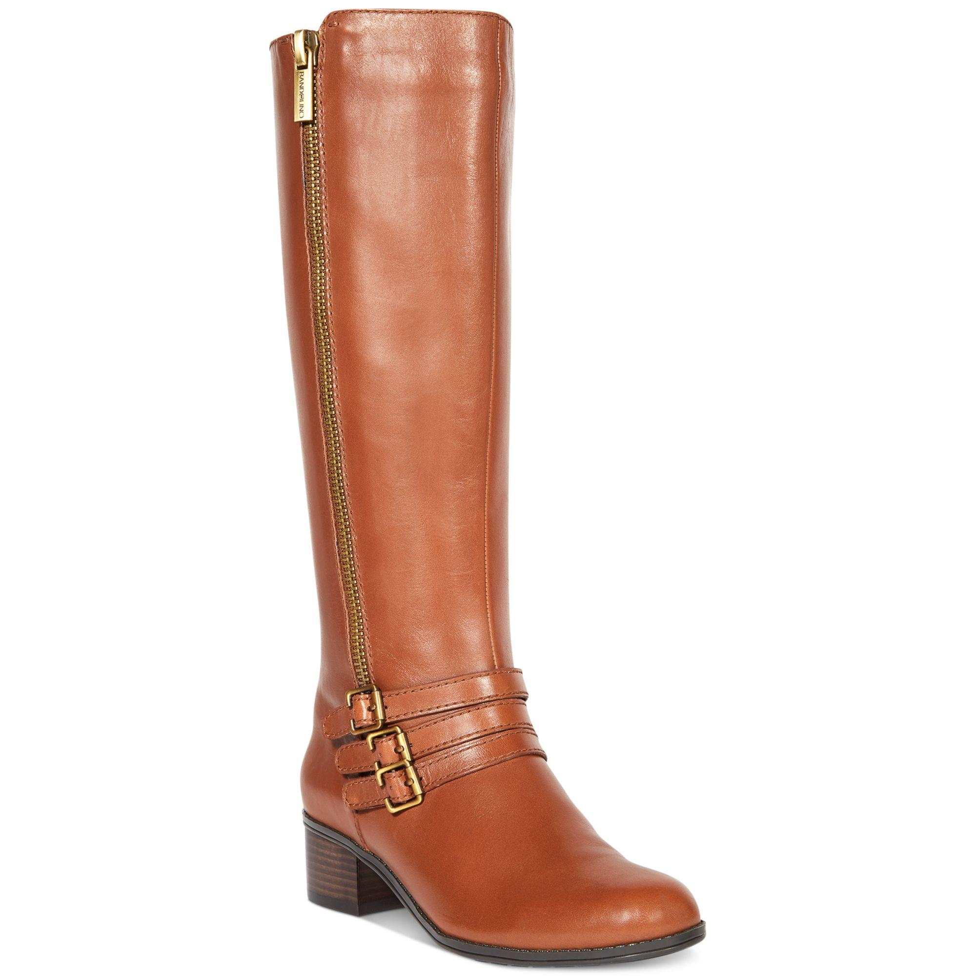 bandolino carsononia wide calf boots in brown