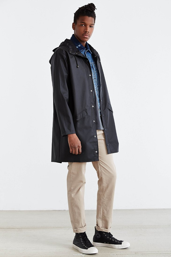 Lyst - Rains Long Jacket in Black for Men 2f095a5c76a7