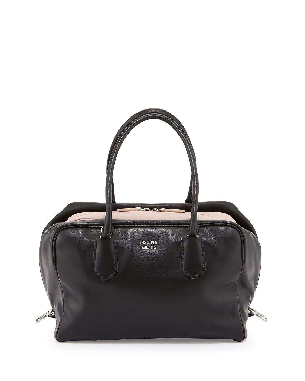 cd0e691891 discount lyst prada large soft calf inside bag in black 65fbc f713f