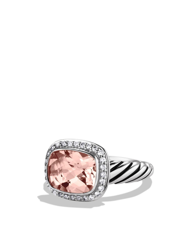 David Yurman Noblesse Ring With Morganite Amp Diamonds In