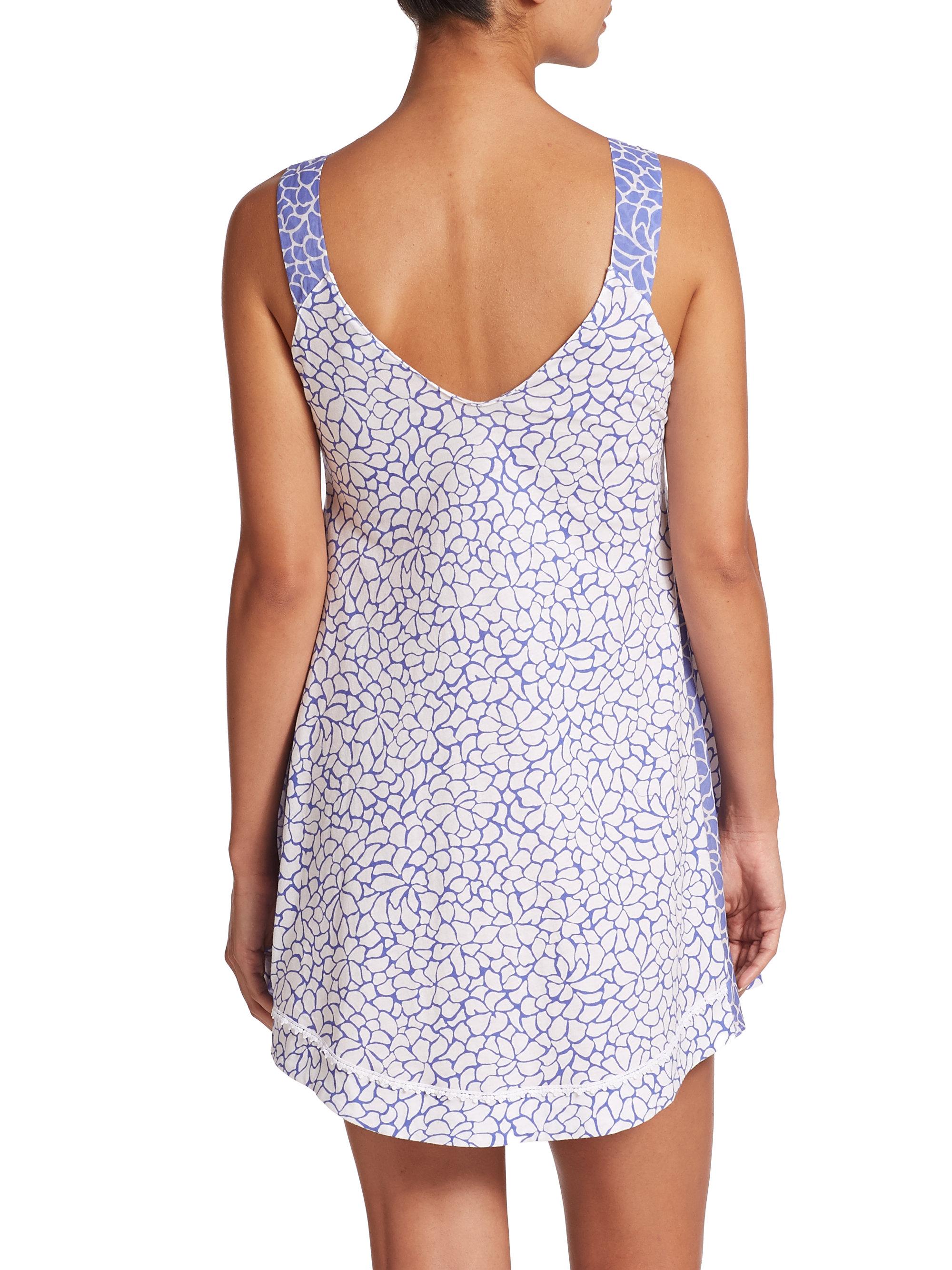 White Cotton Jersey Nightgowns La Cera Women S Embroidered