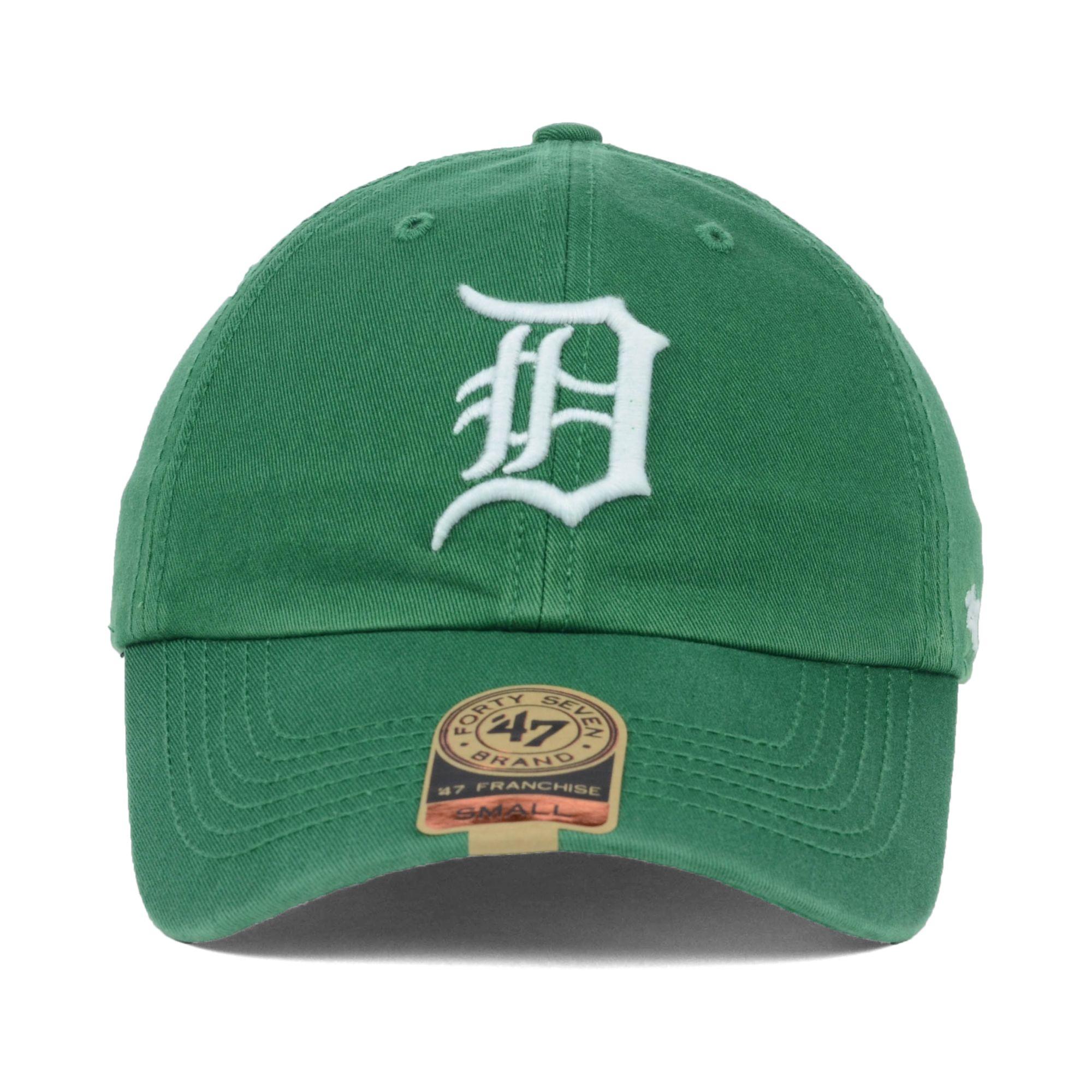 new product 2ec28 da9ee new zealand lyst 47 brand detroit tigers mlb kelly 47 franchise cap in green  68c68 1da7e