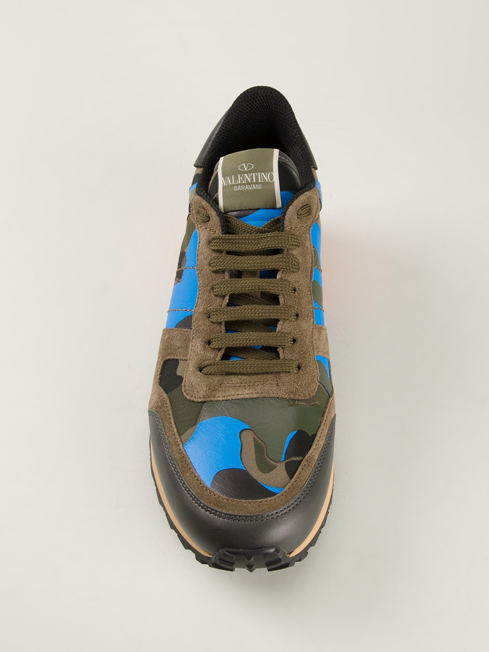 8d40098e7166 For Rockstud Men Lyst Valentino Sneakers In Green gxXwWBqUA
