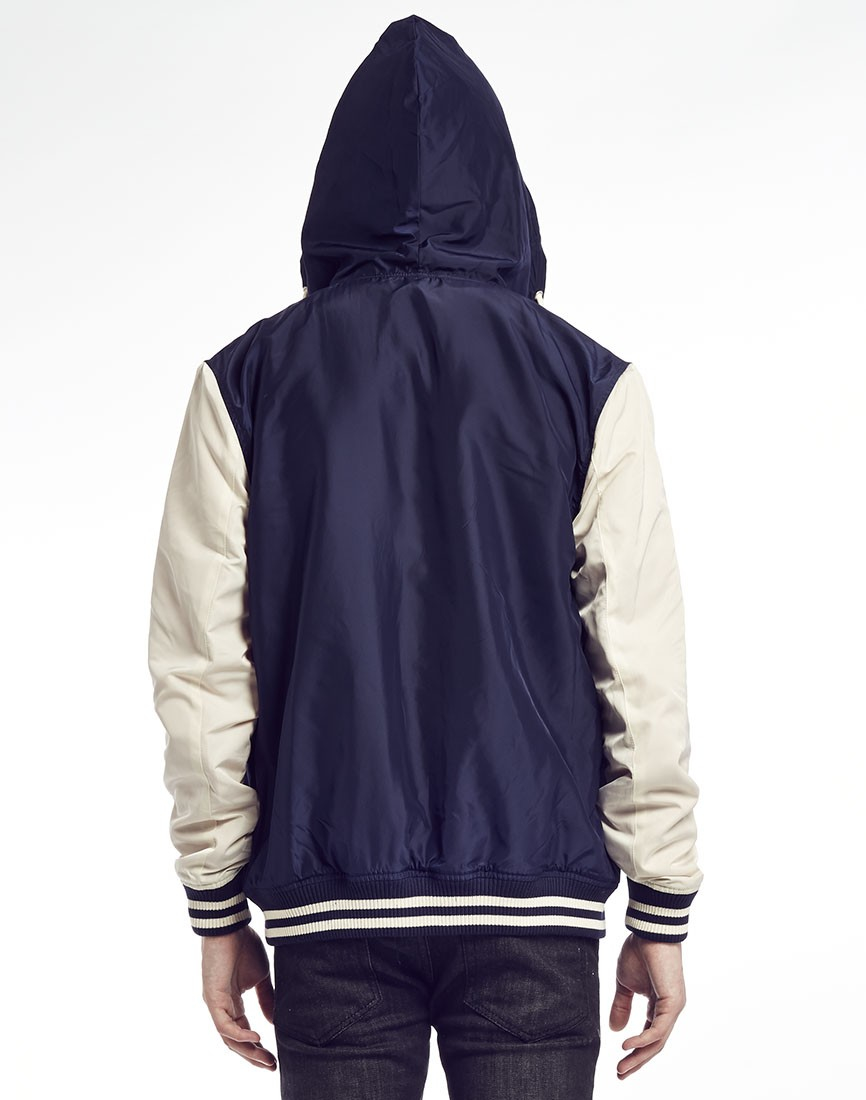Supremebeing Varsity Jacket With Hood In Blue For Men Lyst