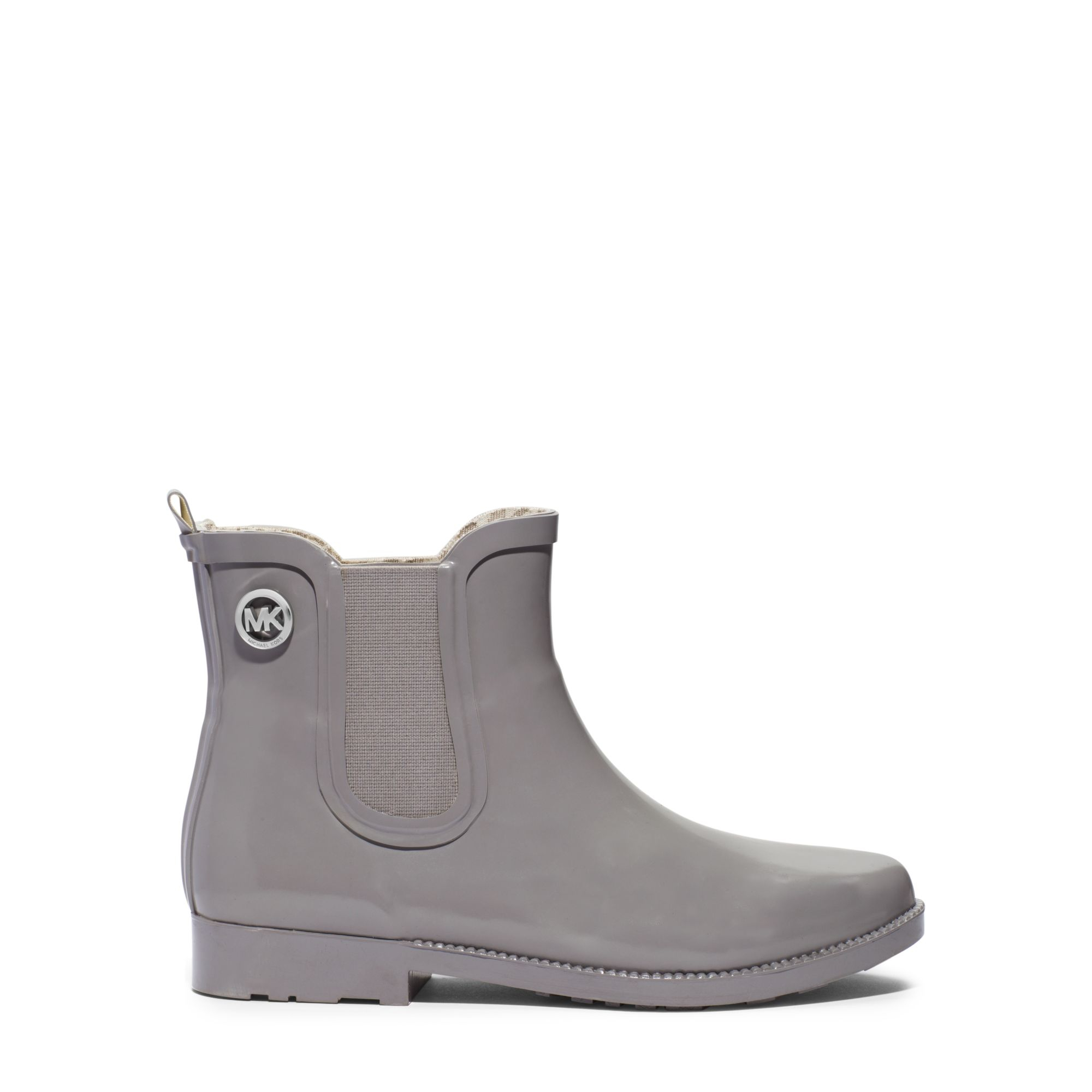 Michael kors Short Rubber Rain Boot in Gray for Men | Lyst