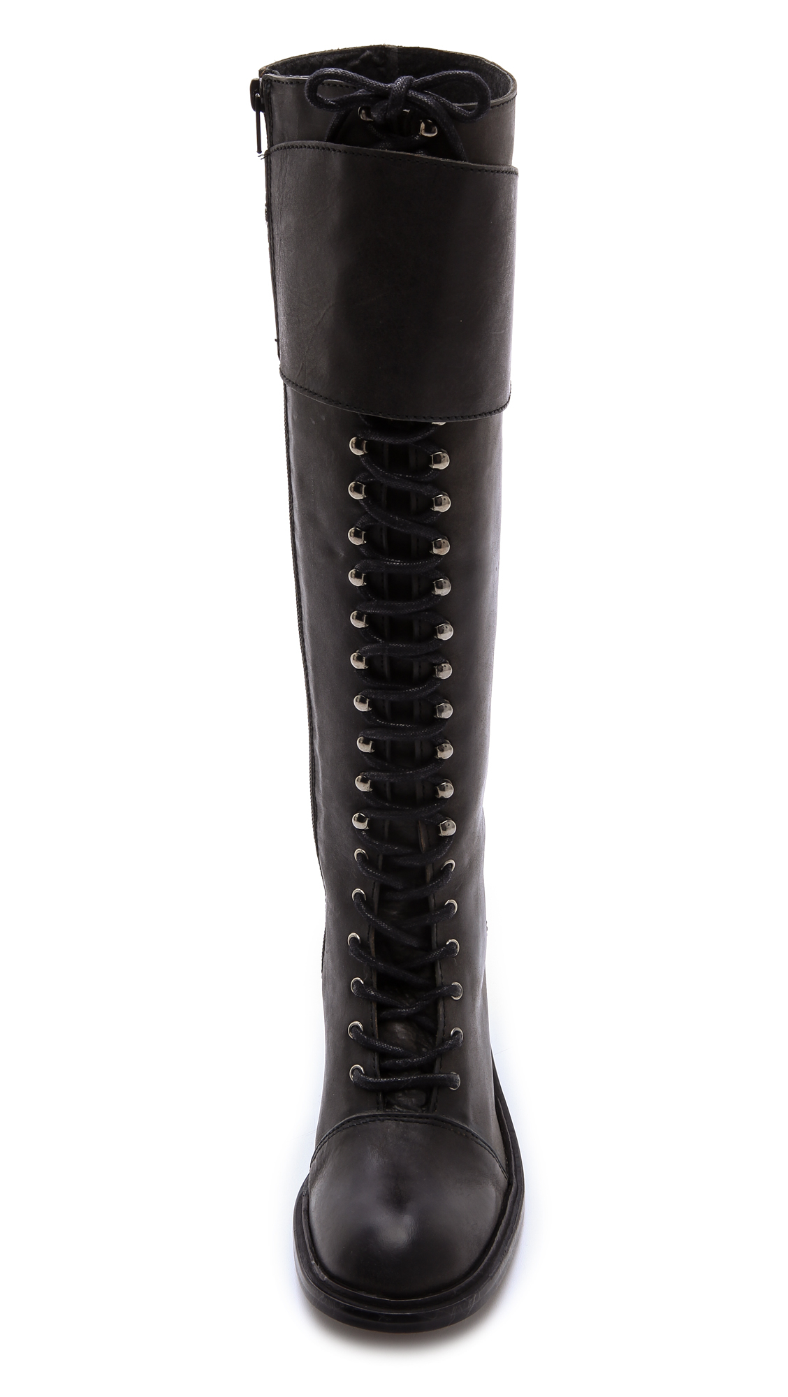 Jeffrey campbell Tall Combat Boots - Black in Black   Lyst