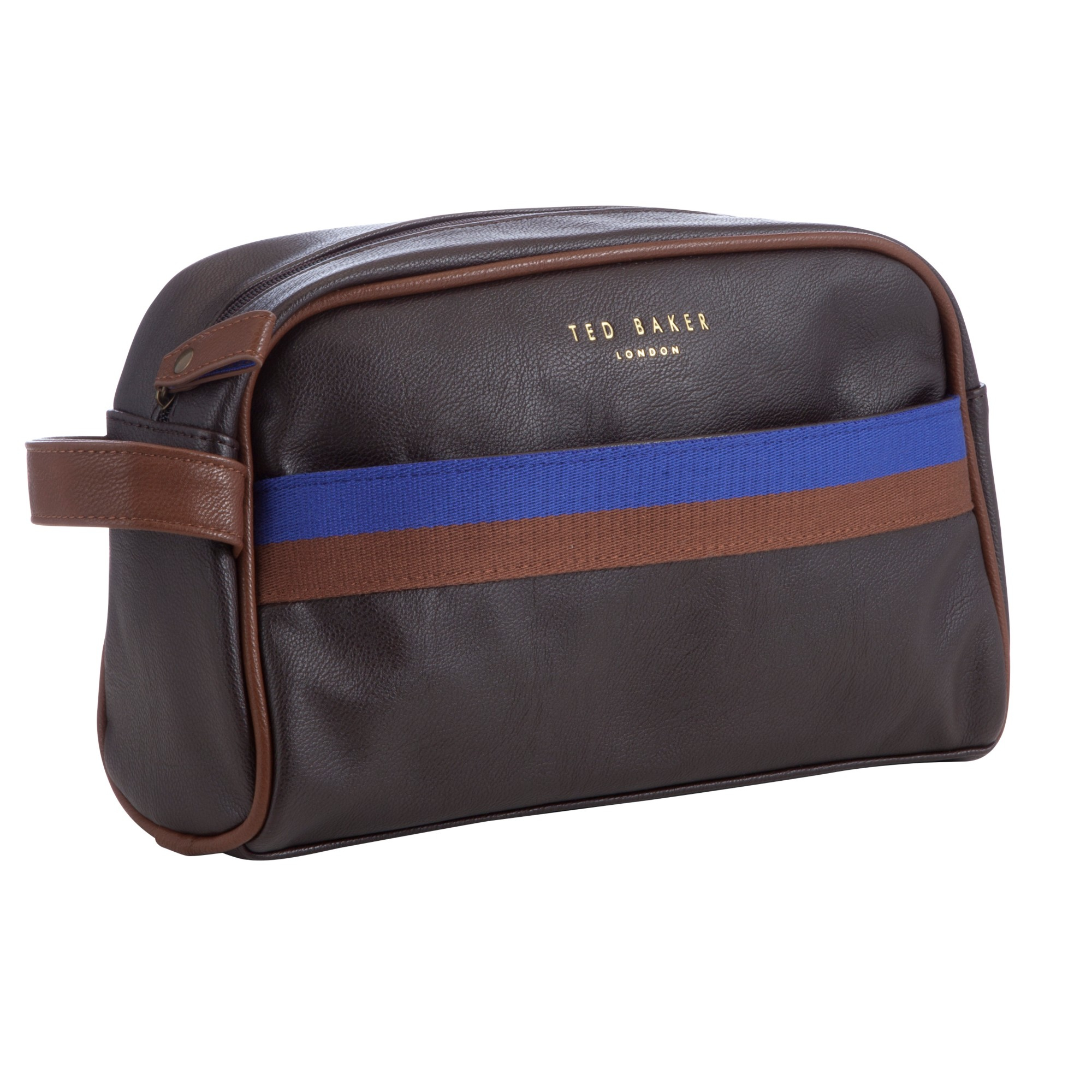 7d69c90e81a1a Ted Baker Cleanit Core Webbing Wash Bag in Brown for Men - Lyst