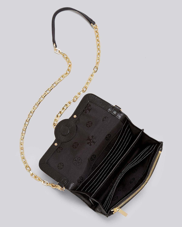 0d032d8bb517 ... germany lyst tory burch crossbody amanda wallet on a chain in black  09ddc b99bb