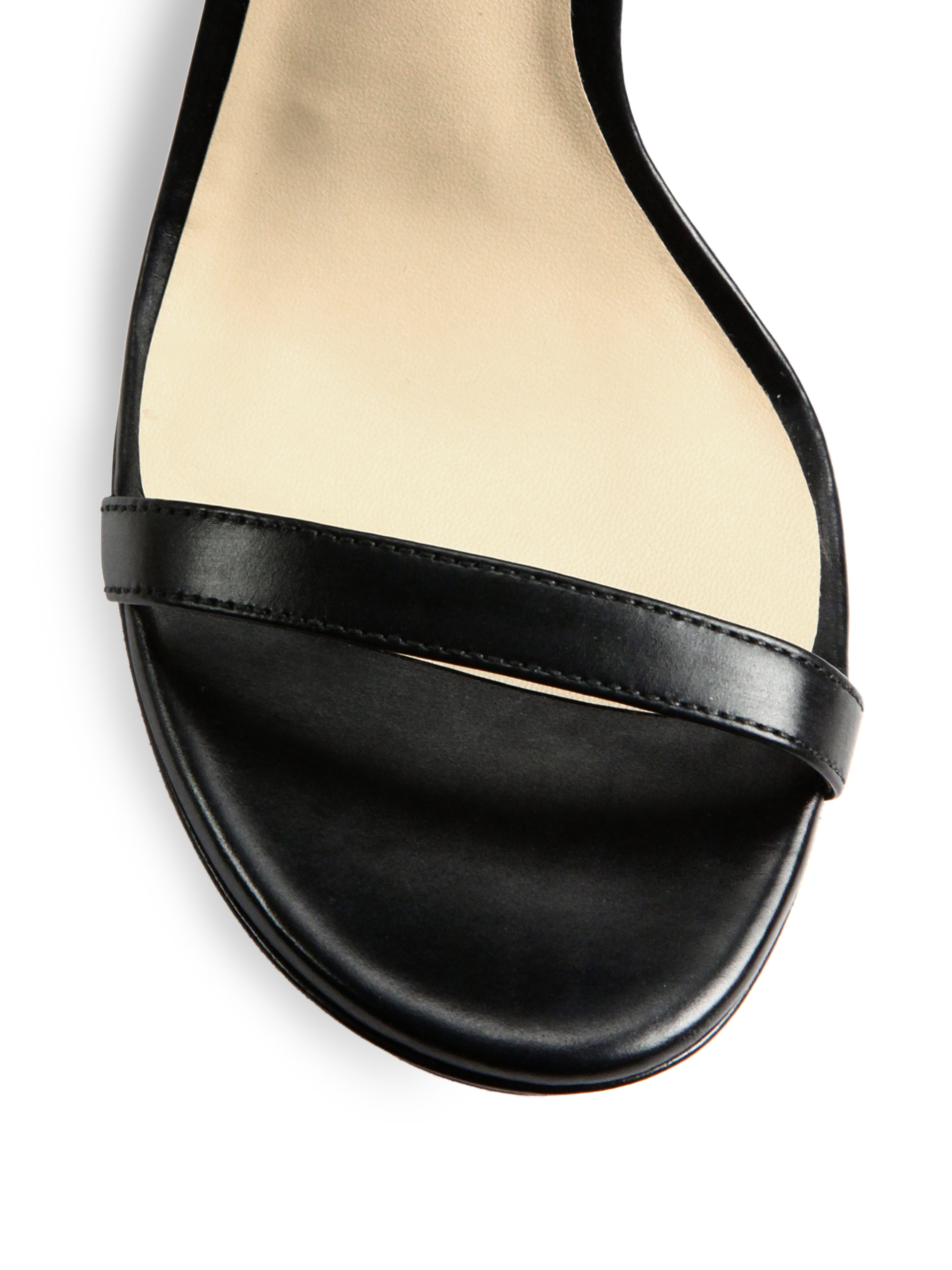Lyst Michael Kors Doris Leather Platform Sandals In Black
