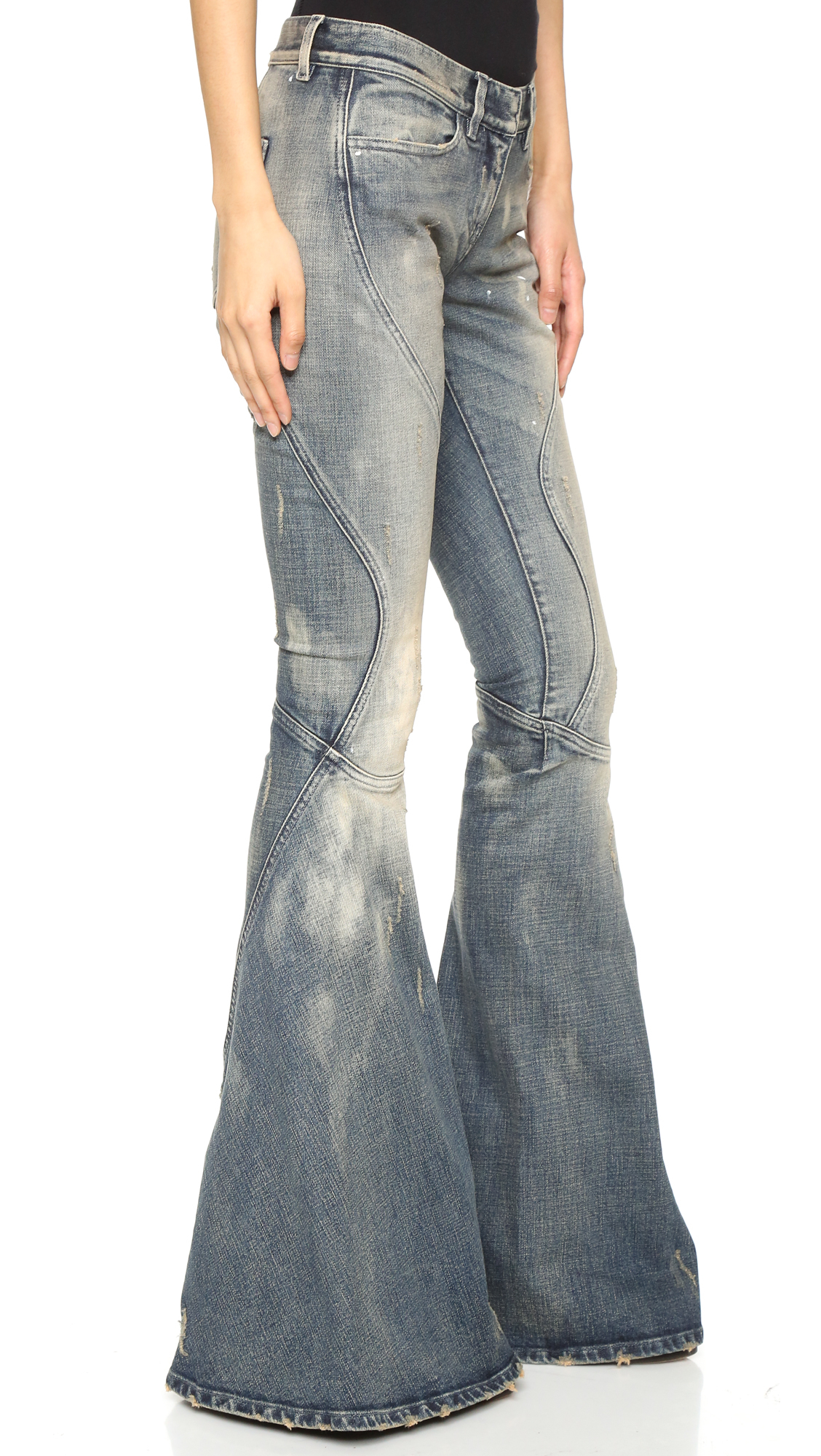 Lyst Faith Connexion Vintage Bell Bottoms In Blue