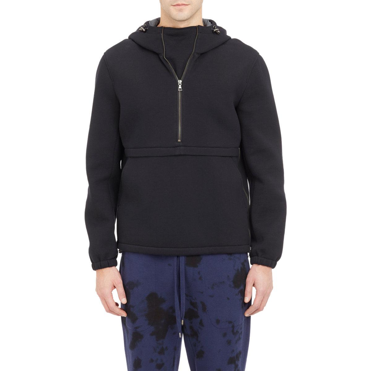 Vince Half-Zip Hoodie-Black Size S in Black for Men | Lyst