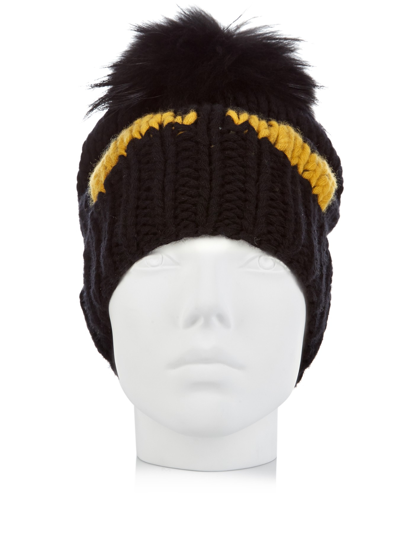 767591bb8ed Lyst - Fendi Bag Bugs-intarsia Wool-knit Beanie Hat in Black for Men