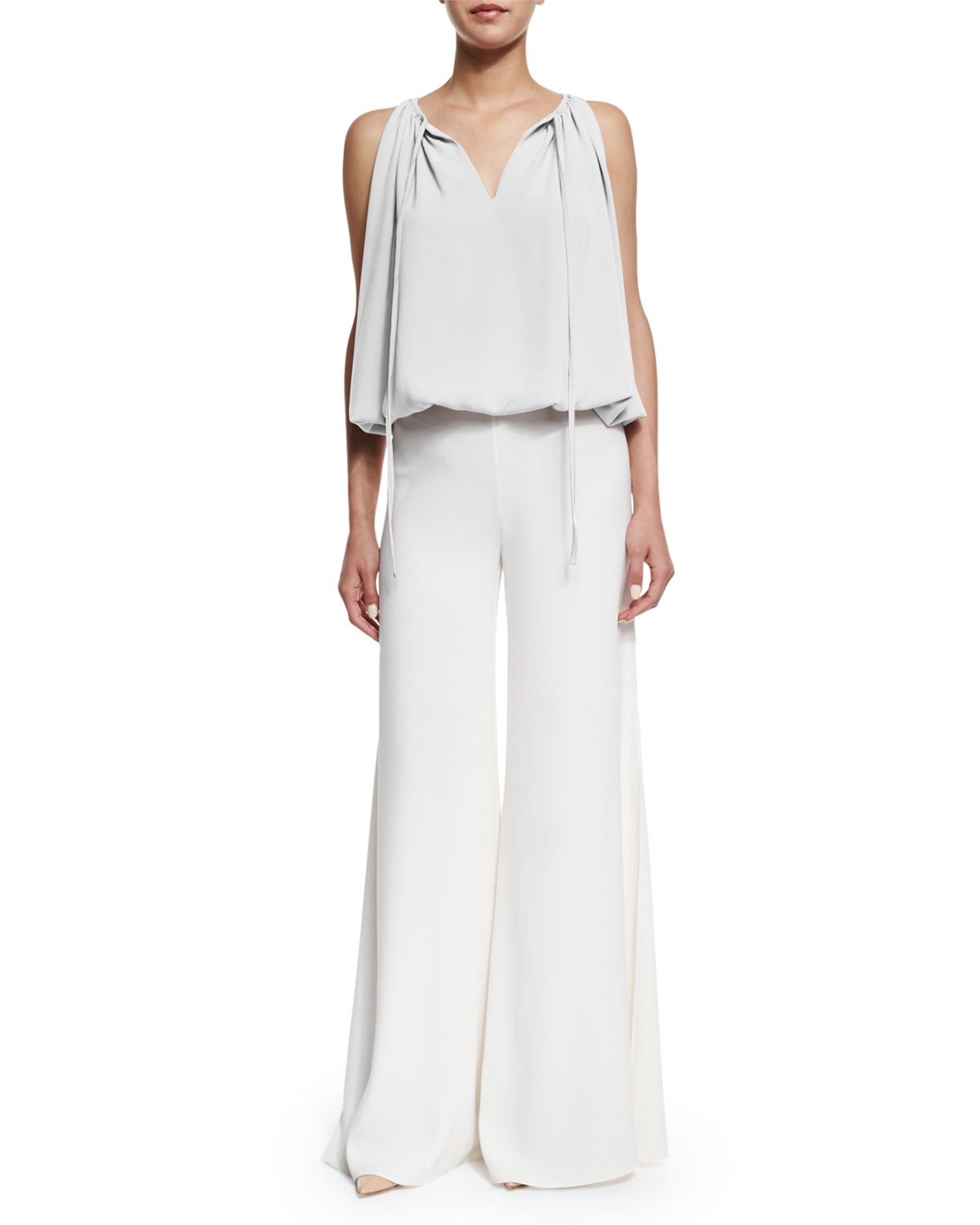 Co. High-waist Wide-leg Pants in White | Lyst