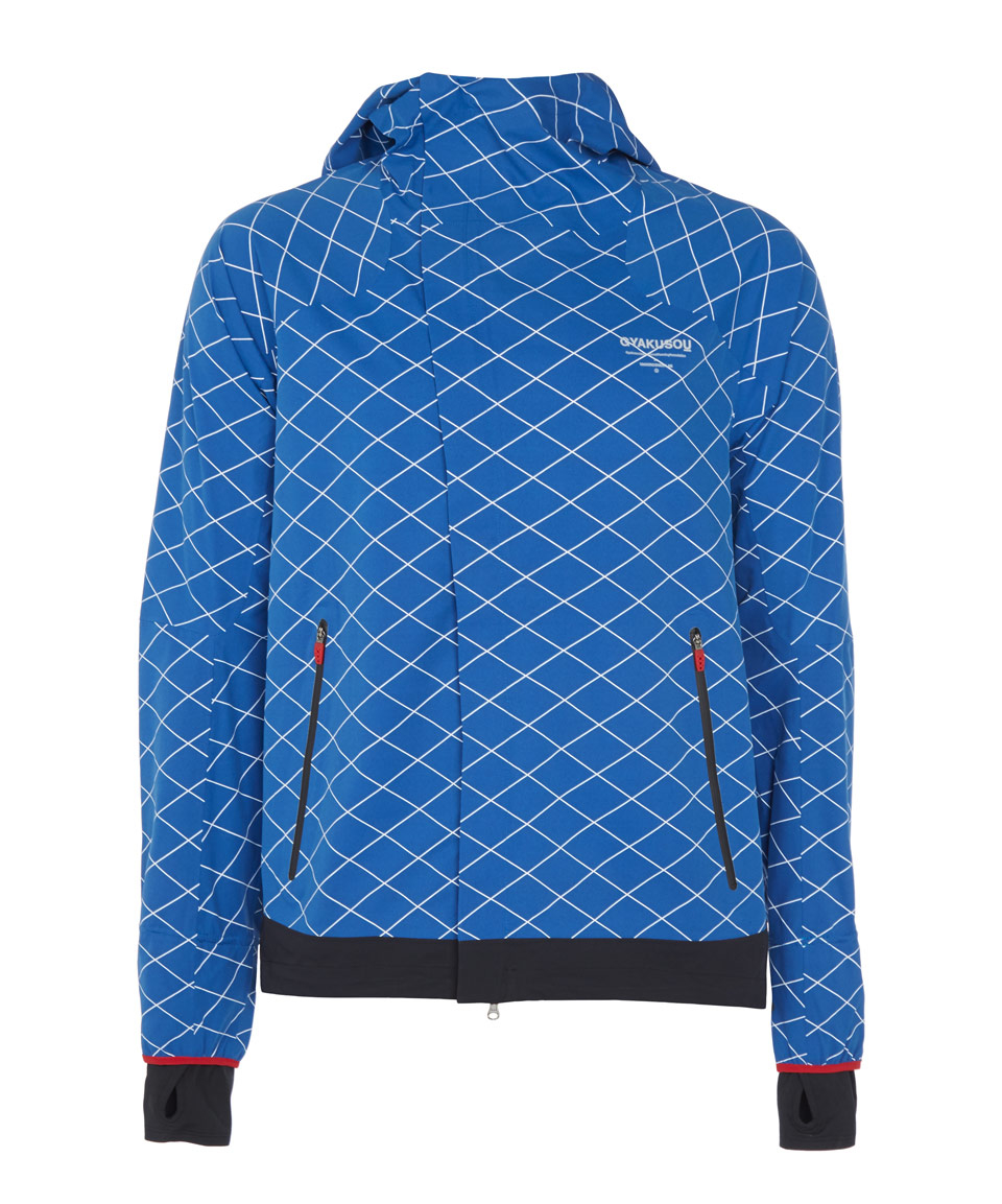 c66e9b2cfe01 Nike Blue Gyakusou Shield Runner Running Jacket in Blue - Lyst