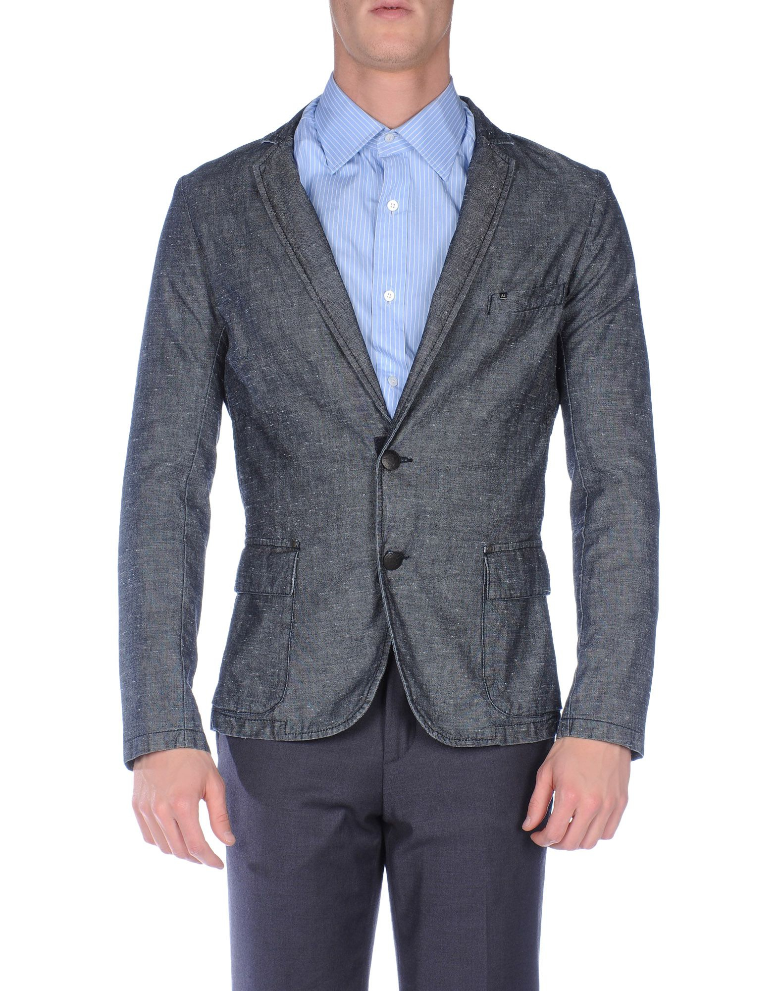 Armani jeans Blazer in Gray for Men (Lead) | Lyst