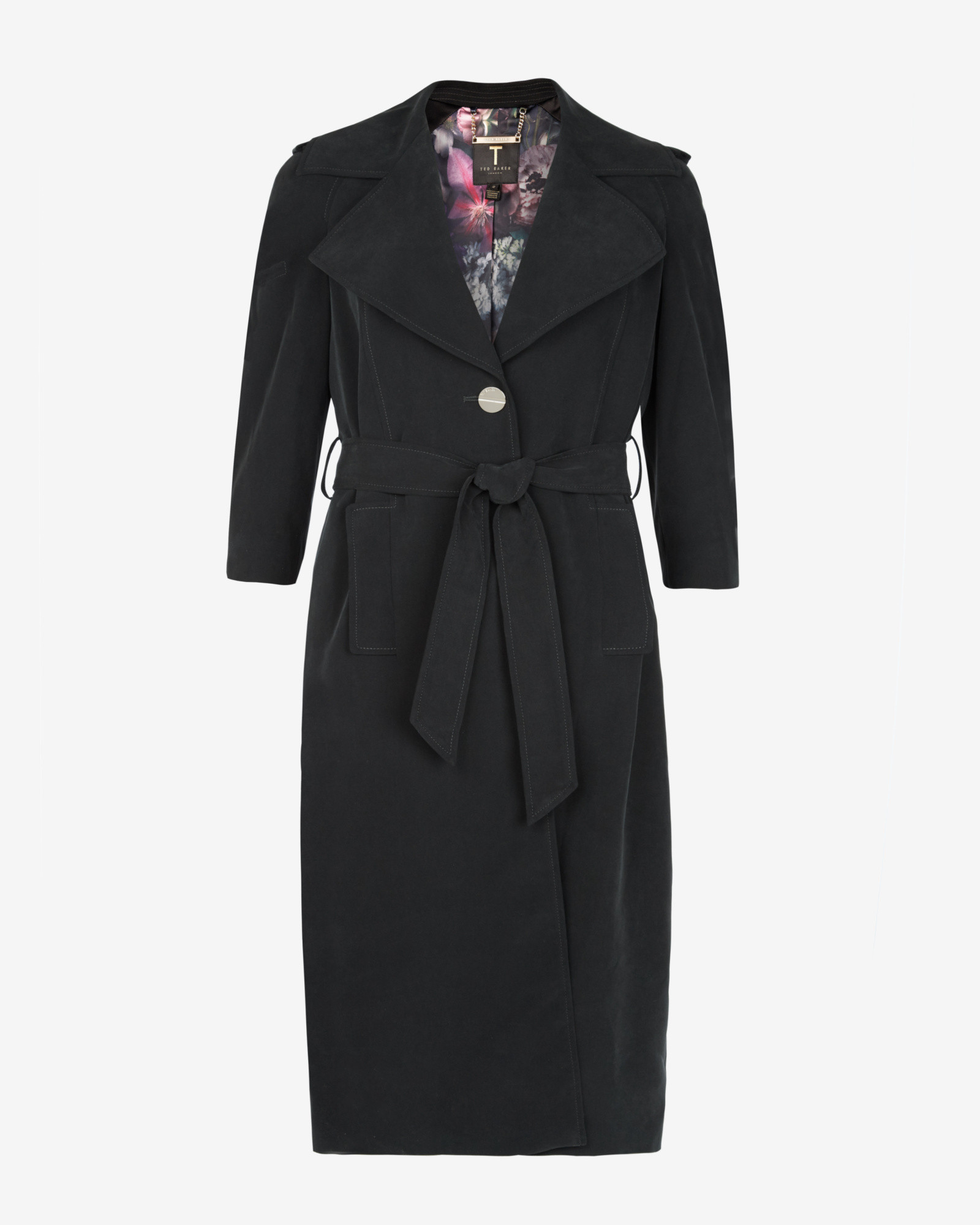 Ted baker Deconstructed Trench Coat in Black