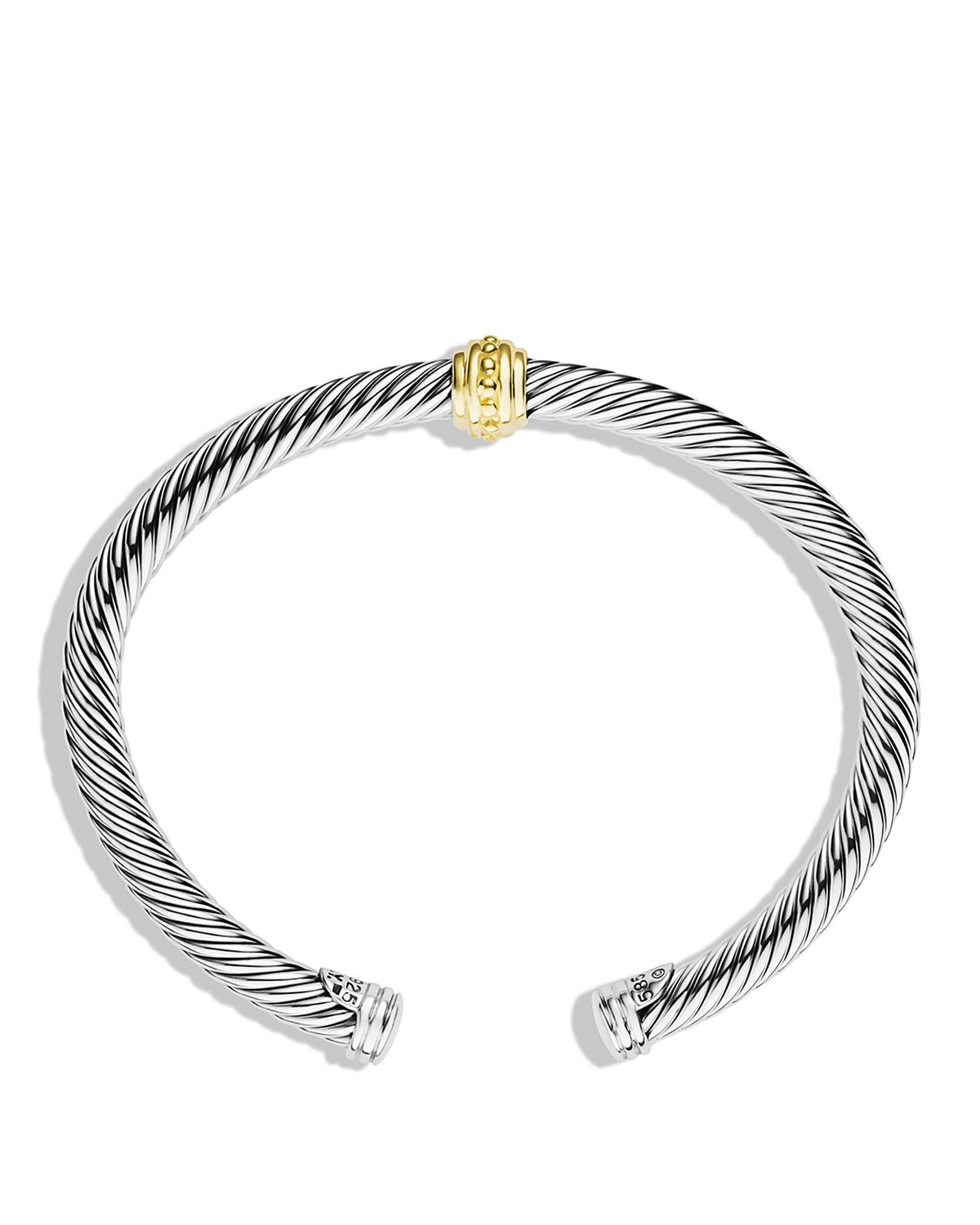 David Yurman Cable Classics One Station Bracelet With Gold