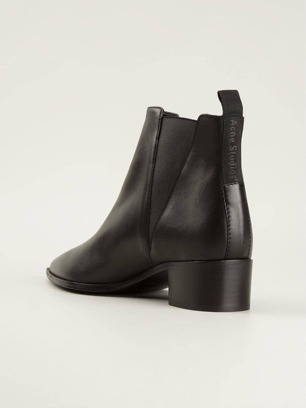 lyst acne studios jensen ankle boots in black. Black Bedroom Furniture Sets. Home Design Ideas