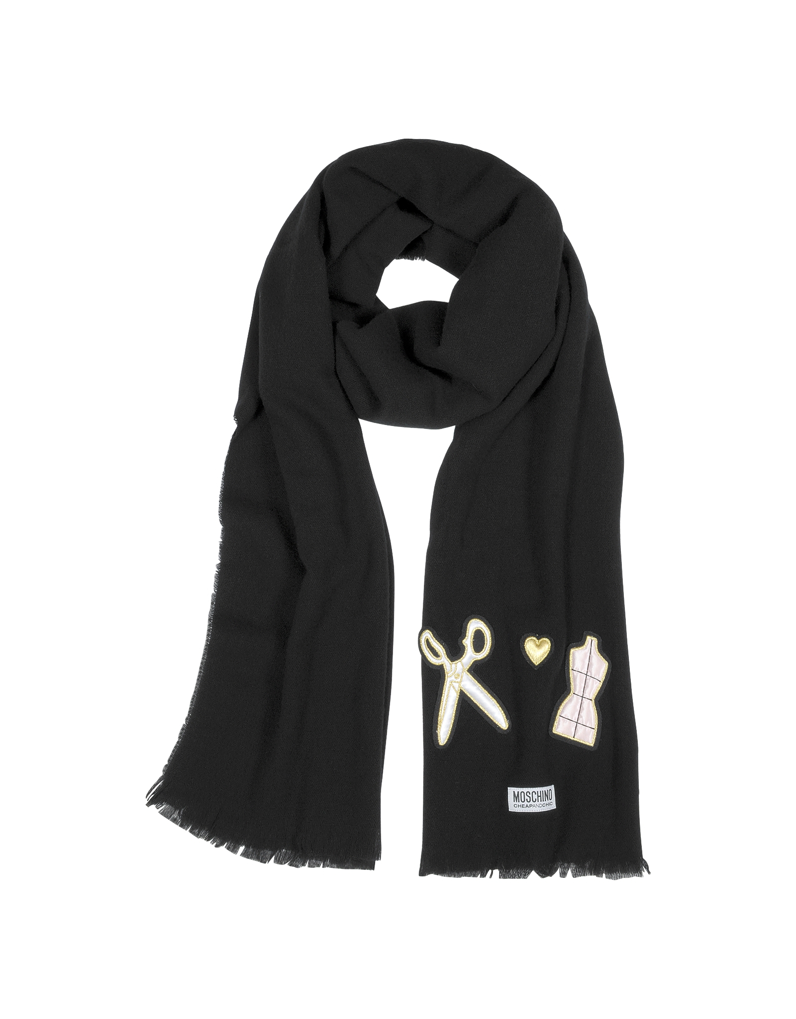 Moschino Cheap And Chic Artelier Wool Fringed Scarf in ...