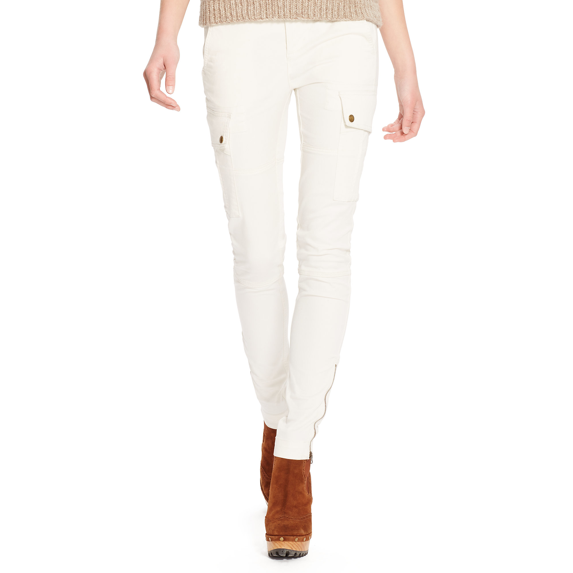 Lyst - Polo Ralph Lauren Stretch Twill Cargo Pant in Natural 914eca5c84b