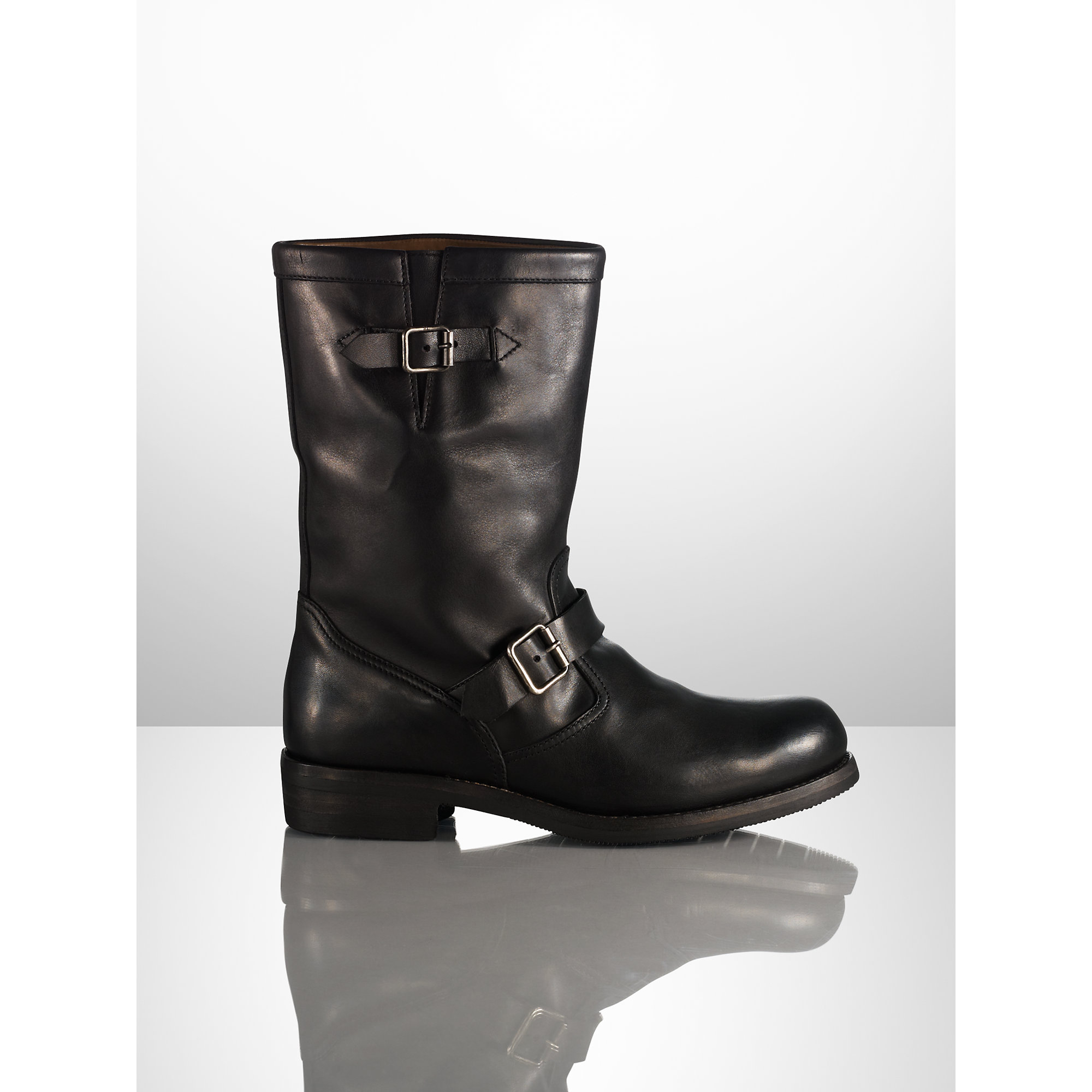 Ralph lauren Girton Washed Calfskin Boot in Black for Men   Lyst